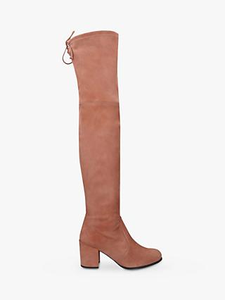 Stuart Weitzman Tieland Suede Over the Knee Boots, Tan