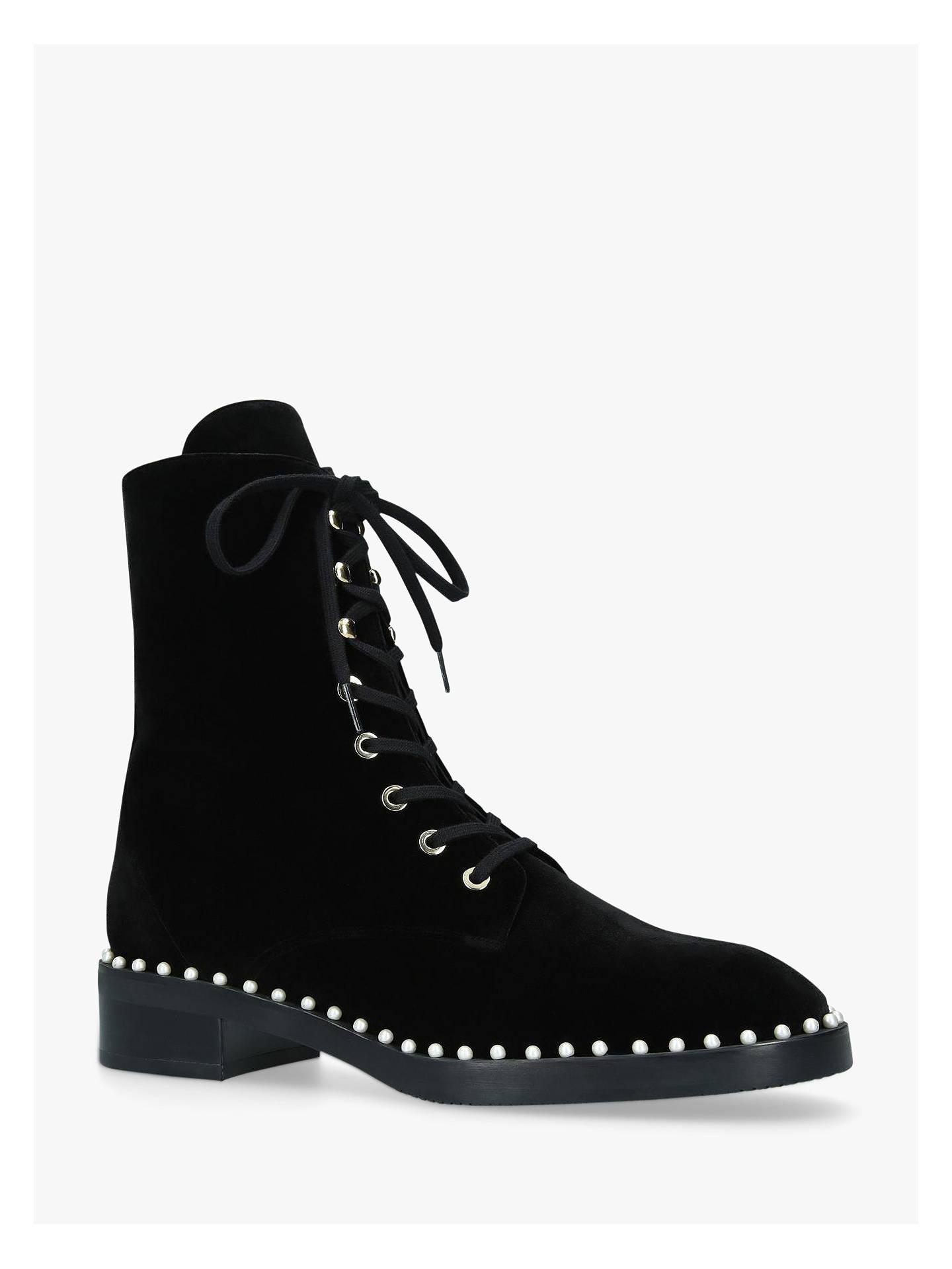 4c2140f0ffc Stuart Weitzman Sondra Combat Leather Lace Up Ankle Boots, Black