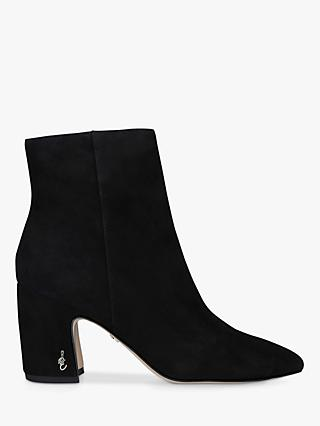 Sam Edelman Hilty Suede Ankle Boots, Black