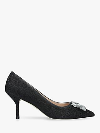 Stuart Weitzman Kelsey Strass Lamé Embellished Court Shoes