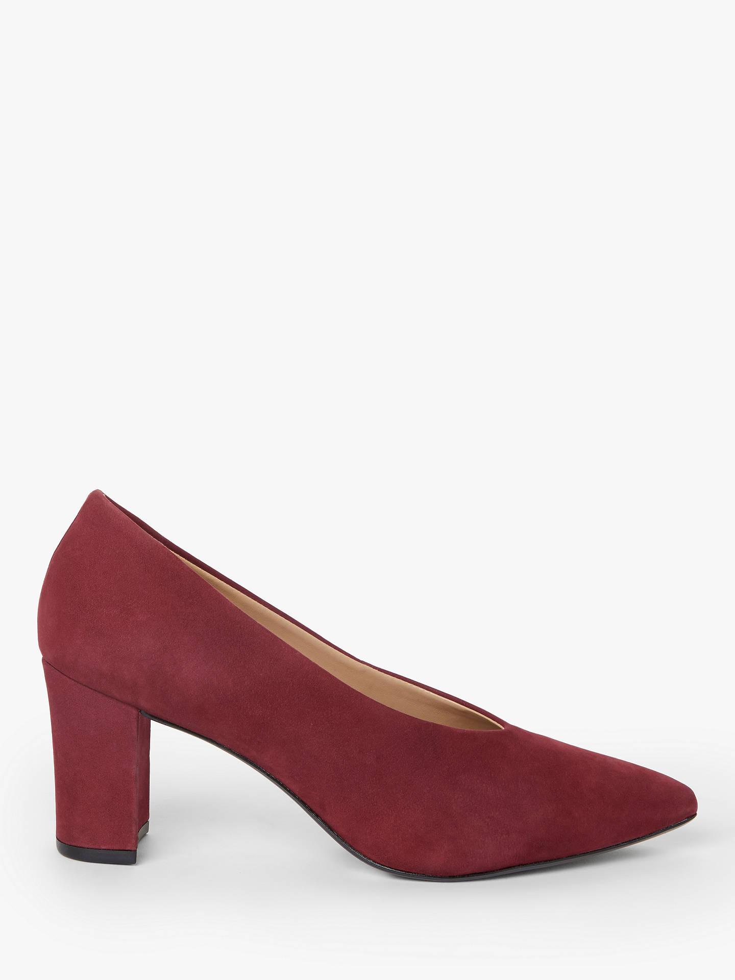 28d3793d87b John Lewis & Partners Alannah Suede Court Shoes, Dark Red