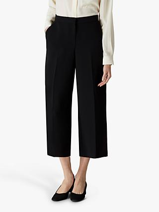 Jaeger Cropped Trousers, Black