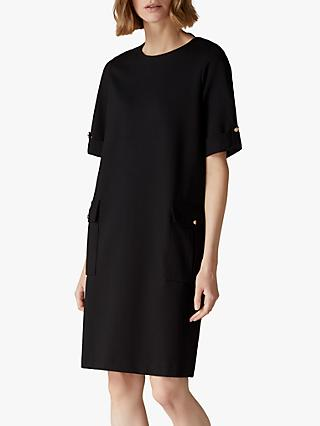 Jaeger Patch Jersey Dress
