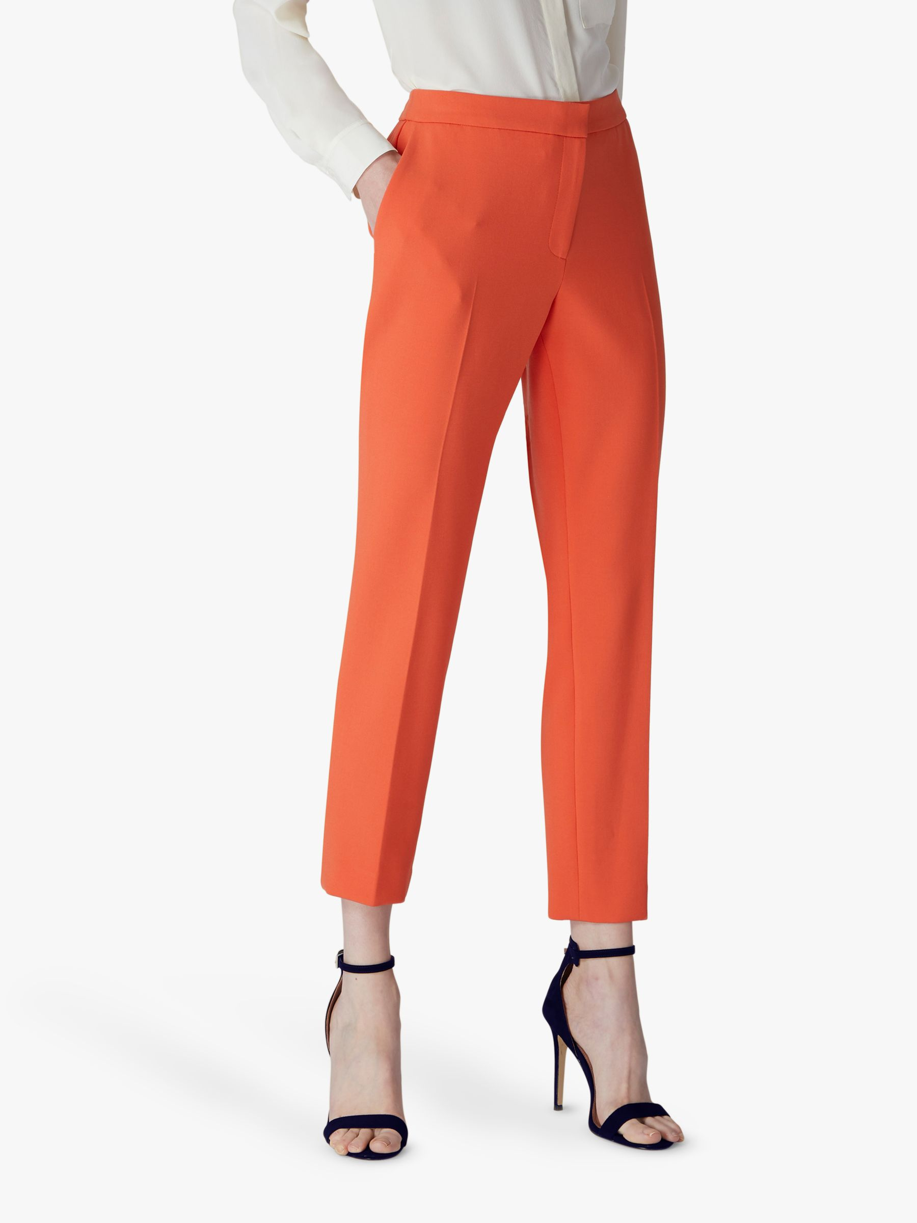 Jaeger Jaeger Colette Tailored Ankle Trousers, Orange