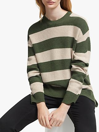 John Lewis & Partners Stripe Boxy Sweater