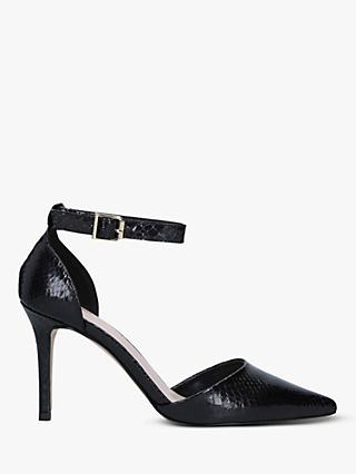 Carvela Kruxx Snake Print Stiletto Heel Courts, Black