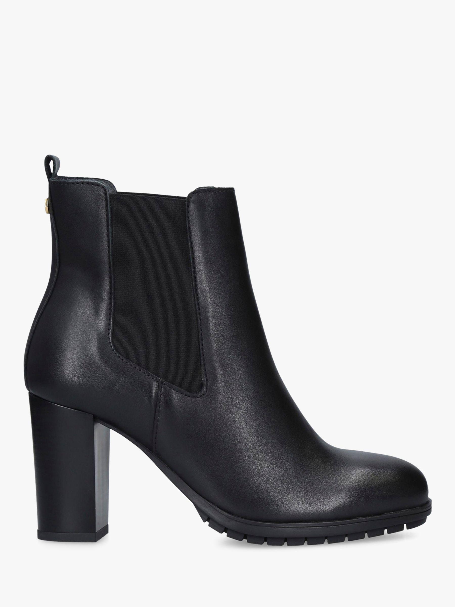 Carvela Carvela Comfort Royal Block Heel Leather Ankle Boots, Black