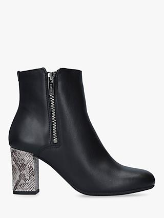Carvela Comfort Rail Side Zip Ankle Boots, Black