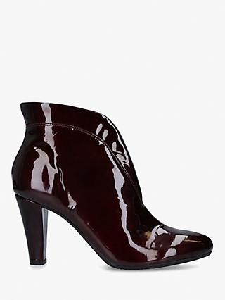 Carvela Comfort Rida Patent Leather Ankle Boots, Red Wine