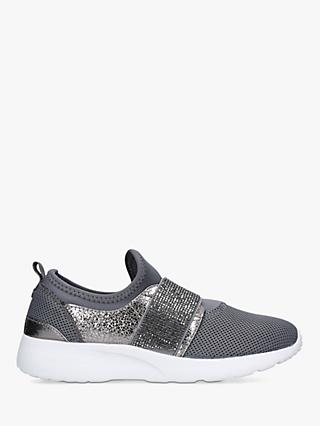 Carvela Comfort Connie Embellished Strap Sock Trainers, Black