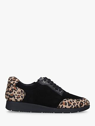 Carvela Comfort Comma Textured Trainers, Black