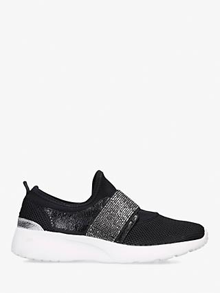 Carvela Comfort Connie Fabric Slip-On Trainers, Black