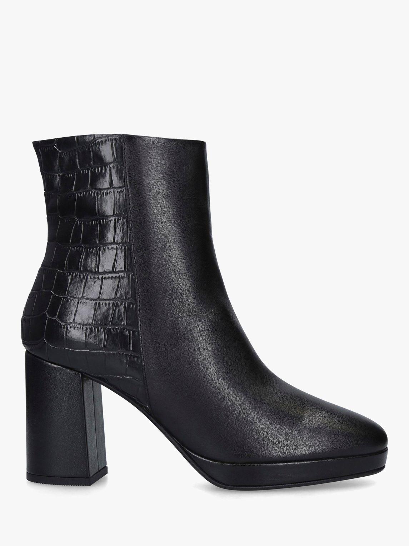 Carvela Carvela Tiptoe Block Heel Ankle Boots, Black