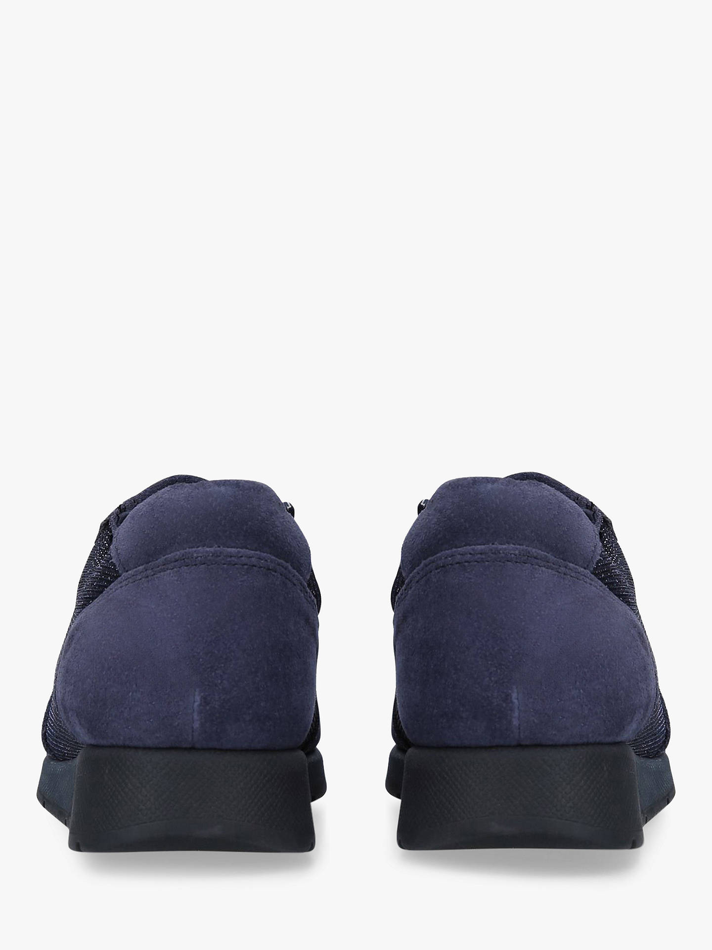 Buy Carvela Comfort Comma Textured Trainers, Navy Blue, 4 Online at johnlewis.com
