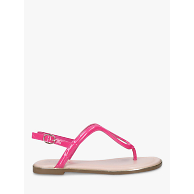 Carvela Act Toe Post Flat Sandals, Fuchsia