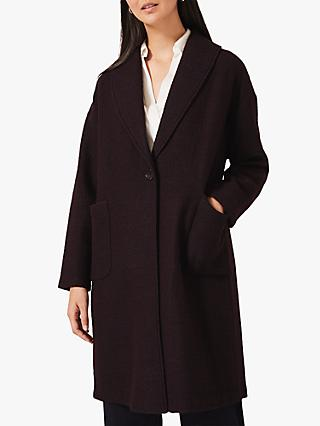 Phase Eight Sally Shawl Coat, Port