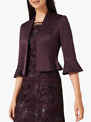 Phase Eight Amanda Flared Jacket, Grape