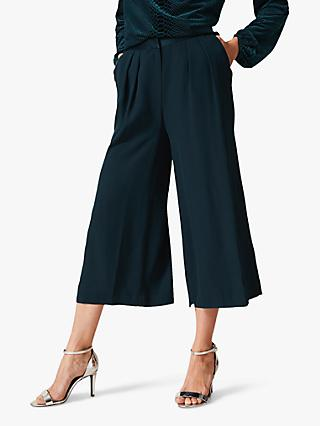 Phase Eight Satin Culottes, Green