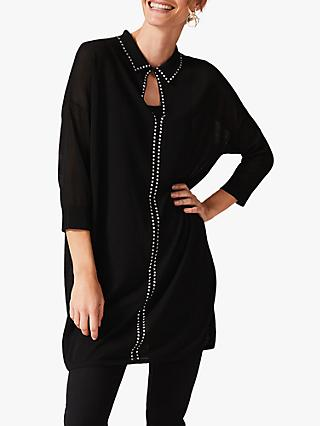 Phase Eight Sibyl Stud Tunic Dress, Black