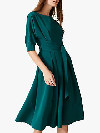 Phase Eight Cleo Tie Waist Dress, Bright Jade