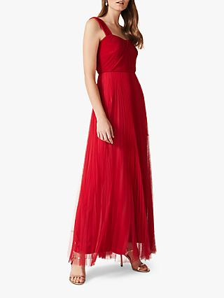 Phase Eight Tori Pleated Dress, Lipstick