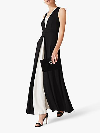 Phase Eight Addy Monochrome Maxi Dress, Black/Ivory