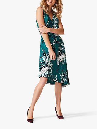 Phase Eight Laverne Printed Dress, Petro/Mullti