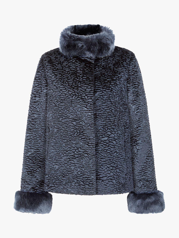 Four Seasons Four Seasons Astrakhan Faux Fur Collar Jacket
