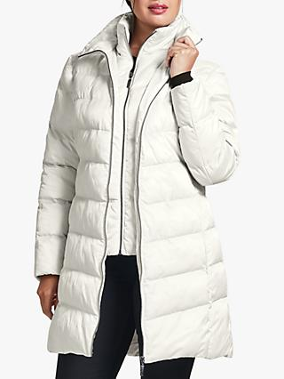 Four Seasons Wadded Three Quarter Length Coat, White
