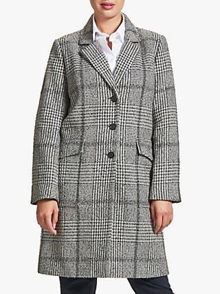 Four Seasons Check Patch Coat, Grey