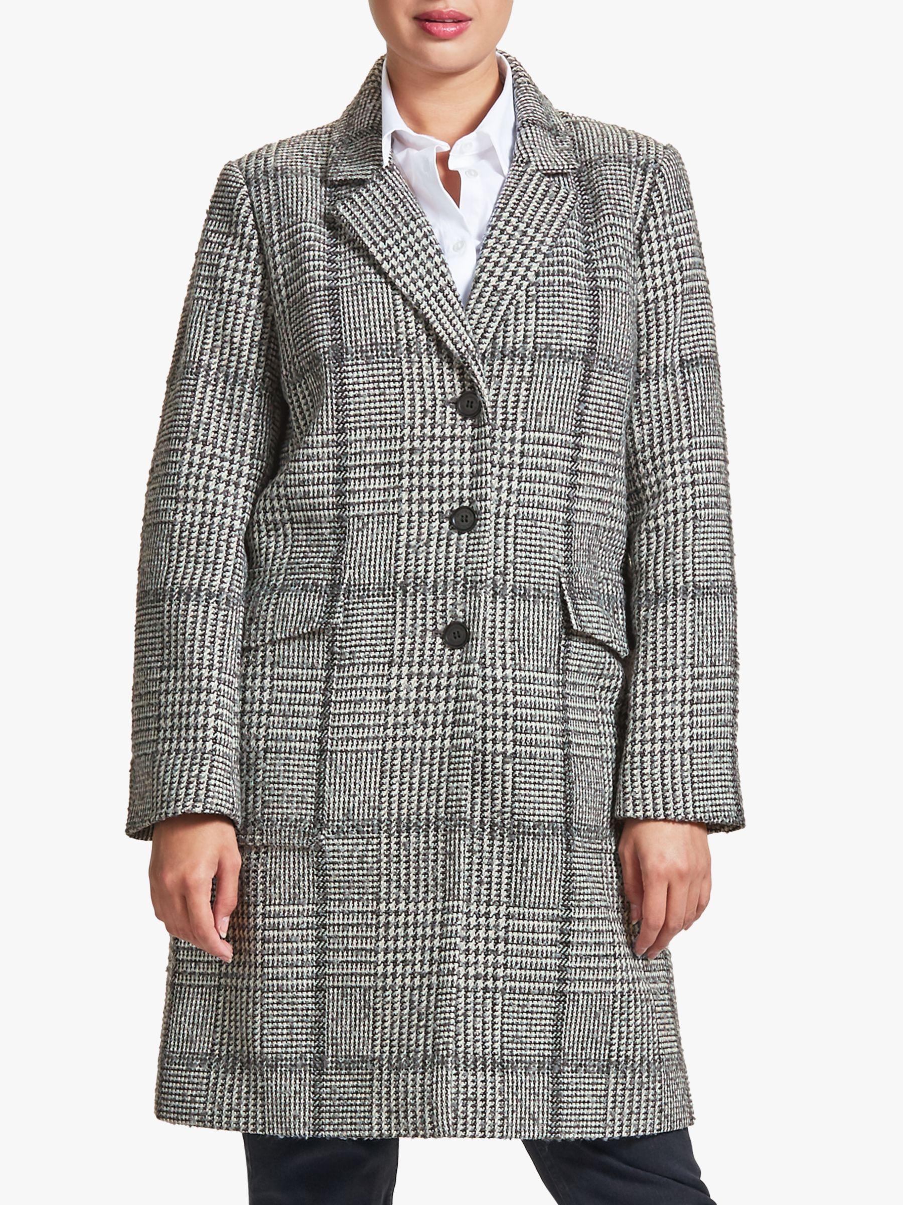 Four Seasons Four Seasons Check Patch Coat, Grey