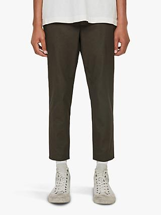 AllSaints Kato Tapered Ankle Trousers, Khaki Brown