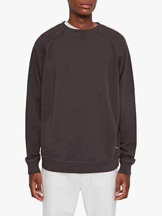 Buy AllSaints Coil Crew Neck Sweatshirt, Washed Black, XS Online at johnlewis.com