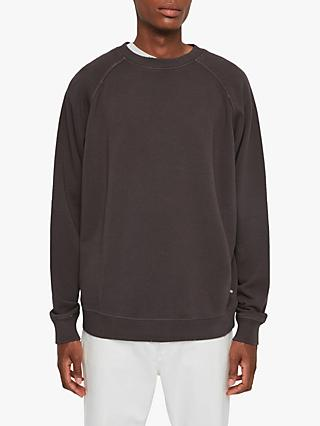 AllSaints Coil Crew Neck Sweatshirt, Washed Black