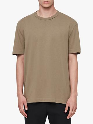 AllSaints Musica Crew Neck Short Sleeve T-Shirt, Beech Green