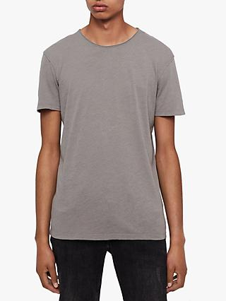 AllSaints Figure Crew T-Shirt, Flint Grey