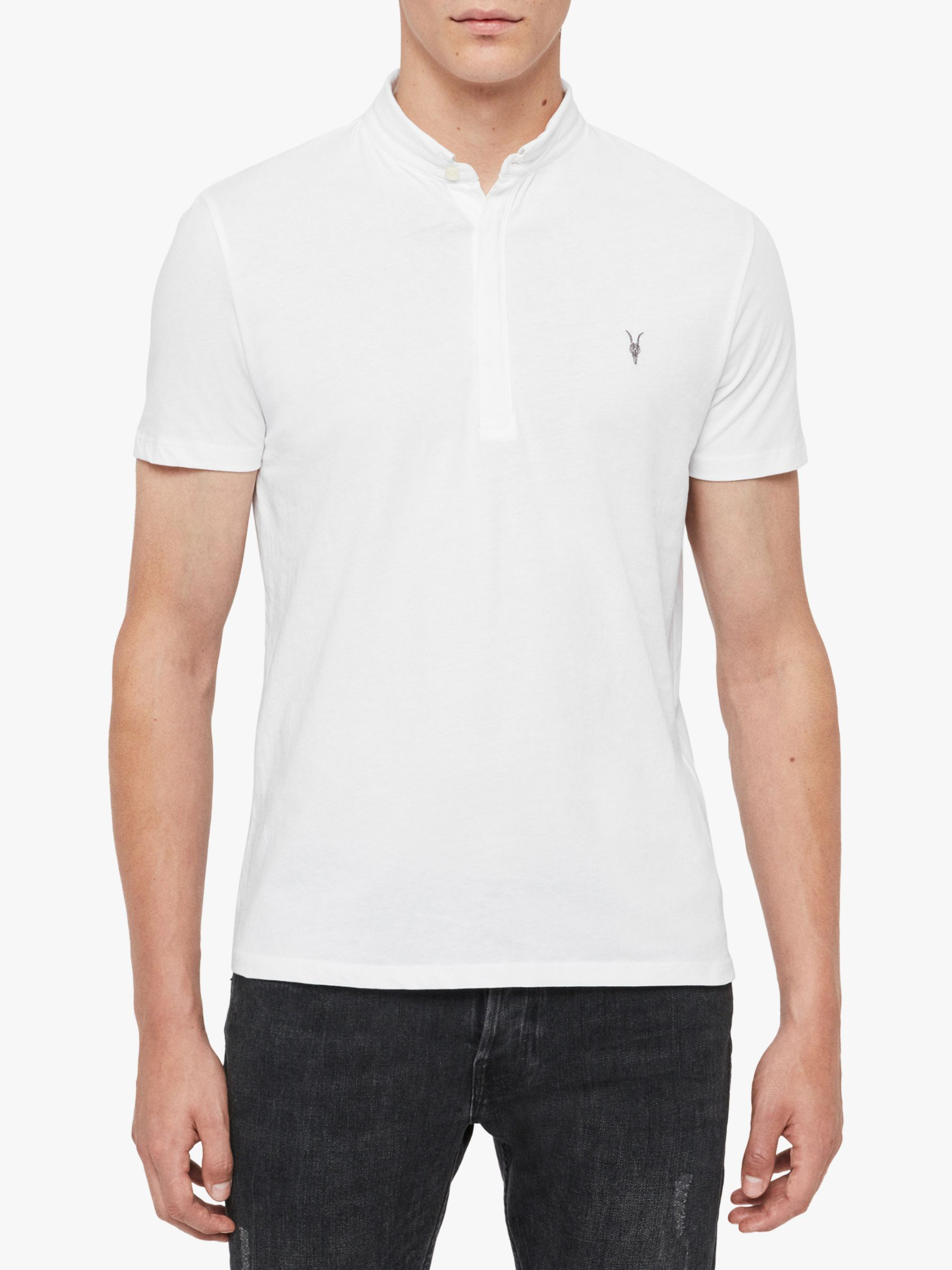 AllSaints AllSaints Grail Polo Shirt, Optic White