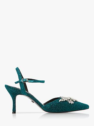 Dune Chrystalise Embellished Pointed Toe Court Shoes