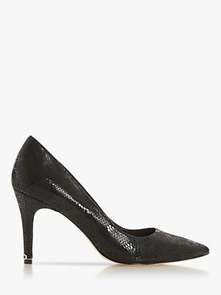 Dune Anna Signature Heel Trim Court Shoes