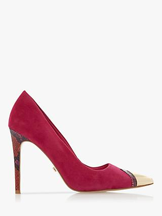 Dune Boutique Suede Contrast Court Shoes, Pink