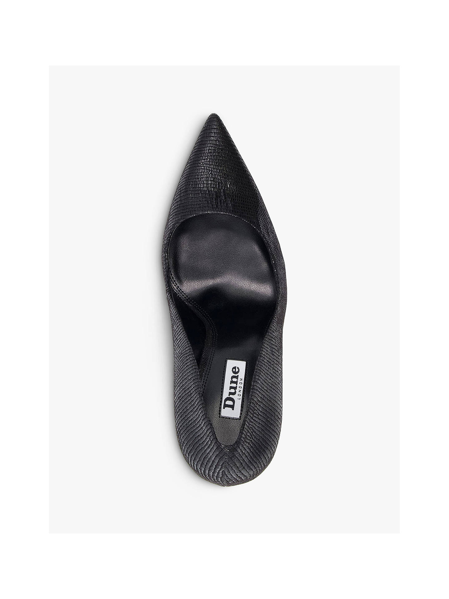 Buy Dune Amaretto Court Shoes, Black Reptile, 3 Online at johnlewis.com