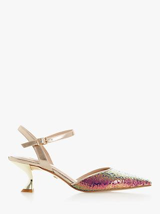 Dune Doriaa Sequin Pointed Toe Slingback Shoes, Multi