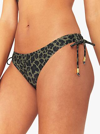Oasis Leopard Bikini Bottoms, Green/Multi