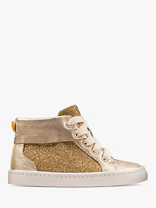 Clarks Junior City Oasis High Top Shoes, Gold