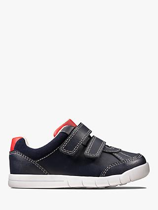 Clarks Junior Emery Sky Riptape Trainers