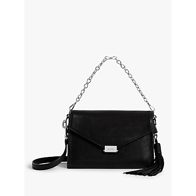Image of AllSaints Miki Leather Cross Body Bag, Black