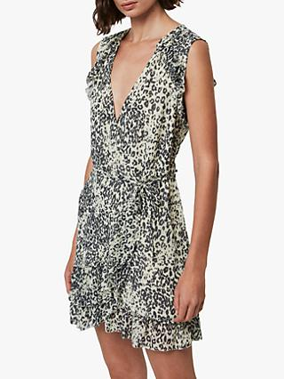 AllSaints Priya Patch Dress, Ivory/Multi