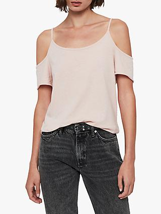 AllSaints Brady Cotton Cold Shoulder Tee