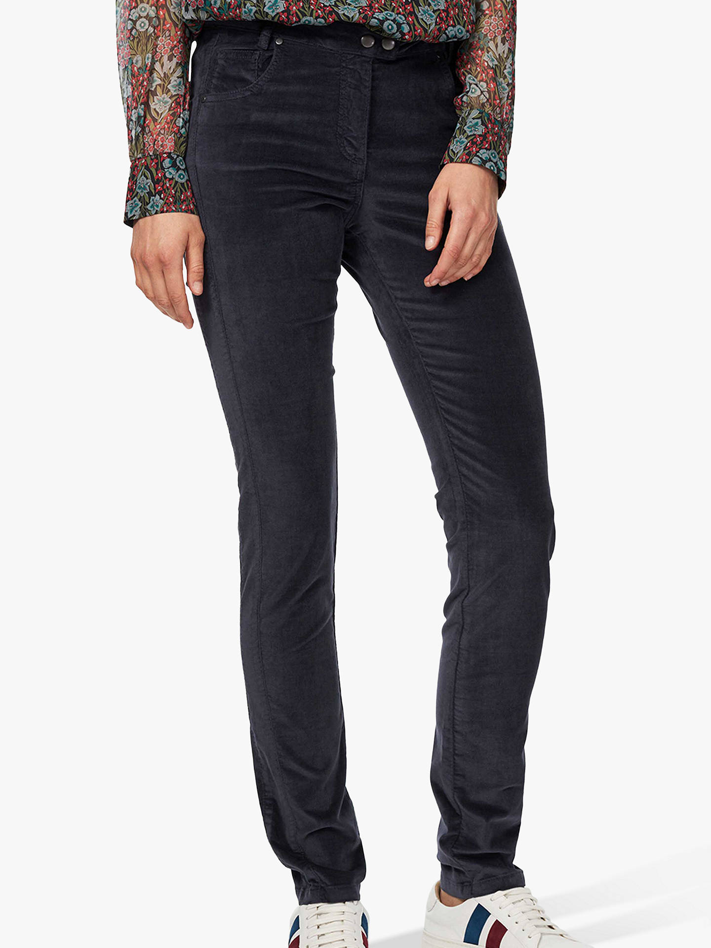 Buy Brora Velvet Jeans, Steel, 6 Online at johnlewis.com
