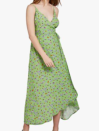 Ghost Bibi Floral Dress, Lyn Floral Green